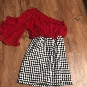 Alabama houndstooth Judith March dress size small